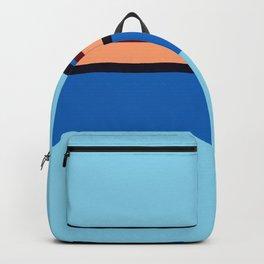 Retro 70s Blue Center Wave Backpack
