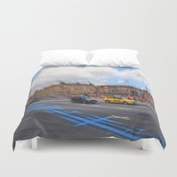 street Duvet Covers featuring street by  Agostino Lo Coco