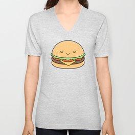 Happy Burger Unisex V-Neck