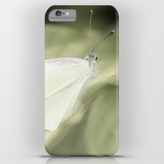 white butterfly iPhone 6 Plus Slim Case