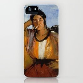 Gypsy with a Cigarette, Edouard Manet iPhone Case