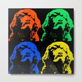 Newf Newfie Newfoundland Dog Lover Gift Metal Print