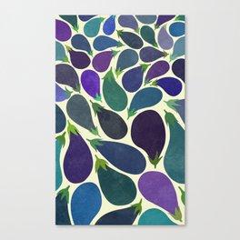 Eggplant's party Canvas Print
