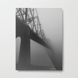 The Bridge and the Mist Metal Print