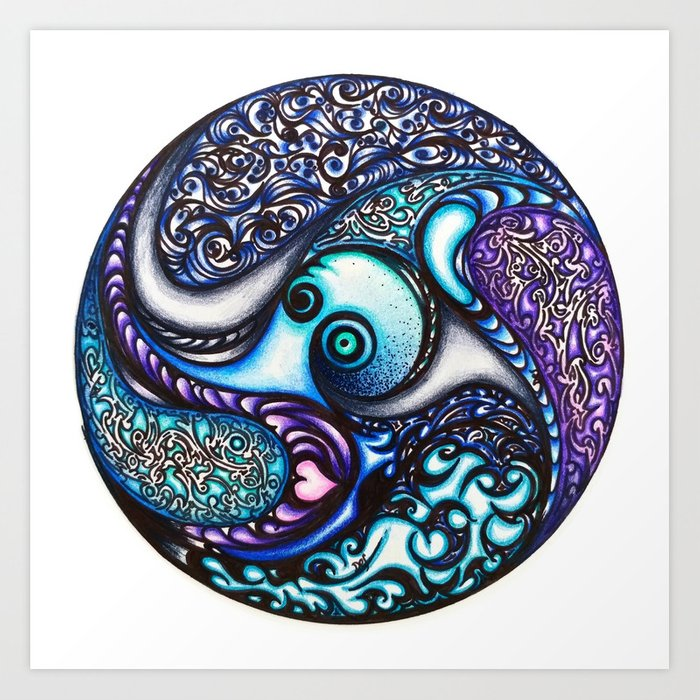 Round and Round (Hello Octopus) Art Print