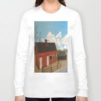 rustic Long Sleeve T-shirts featuring Rustic Barn by McNallieGalleries
