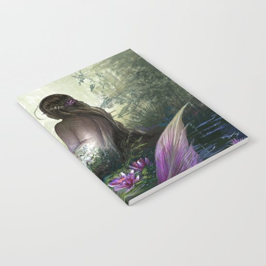 Little mermaid - Lonley siren watching kissing couple Notebook