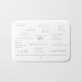 High-Math-Inspiration 01 - Black & Gray Bath Mat