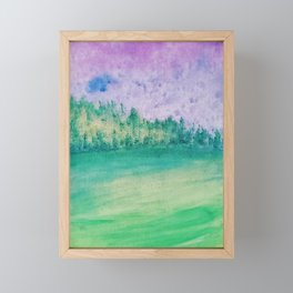 Nature Painting Framed Mini Art Print