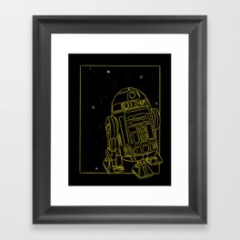 """R2-D2"" by Maggie Stephenson Framed Art Print"