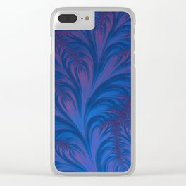 Stacking Hearts - Fractal Art Clear iPhone Case