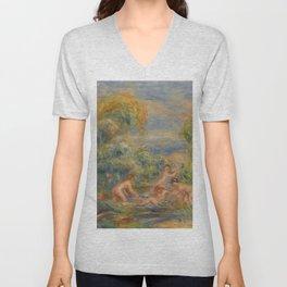 """Auguste Renoir """"Étude de baigneuses"""" Unisex V-Neck"""
