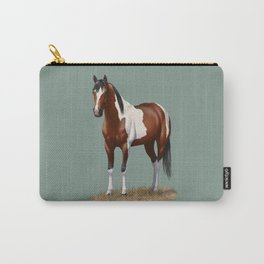 Beautiful Bay Pinto Quarter Horse Carry-All Pouch