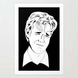 Crying Icon #1 - Dawson Leery - Black & White Variant Art Print