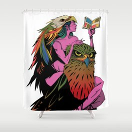 Reading Is FUNdamental (white background) Shower Curtain