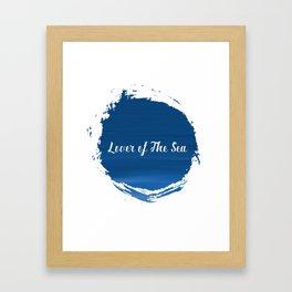 Lover of The Sea Framed Art Print