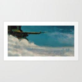 sky fishing Art Print