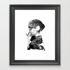 The Sea and the Rhythm // Illustration Framed Art Print