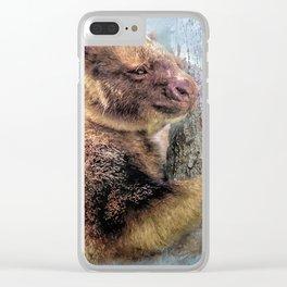 Tree Kangaroo Clear iPhone Case