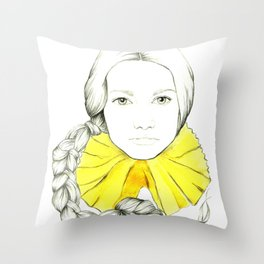 Frill Neck Lady Throw Pillow