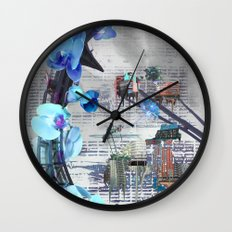 Urban growth Wall Clock
