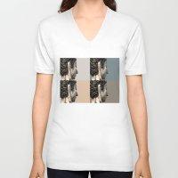 buddah V-neck T-shirts featuring buddah heads by Shane Williams