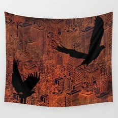 Ecotone (night) Wall Tapestry