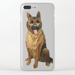 The German Shepard Clear iPhone Case