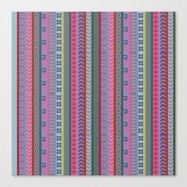 Ethnic Peruvian Striped Pattern Canvas Print