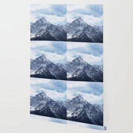 Snowy Mountain Peaks Wallpaper