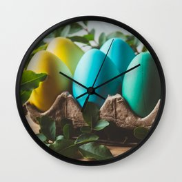 Easter Eggs 28 Wall Clock
