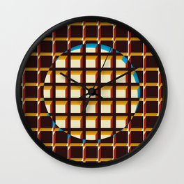 Blue Exclusion Wall Clock