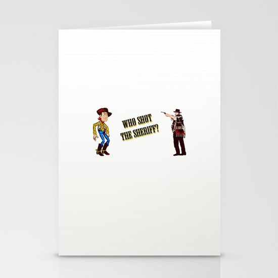 Who Shot The Sheriff? Stationery Cards