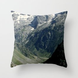 Hiking in the french Alps Throw Pillow