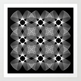 Ah Um Design #002-black Art Print
