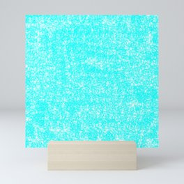 Speckled Robbin Egg Blue Mini Art Print