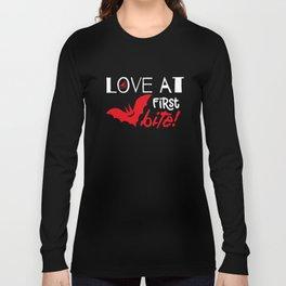Halloween T-shirt/ Love at first Bite Long Sleeve T-shirt