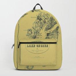 Map of Lake George 1855 Backpack