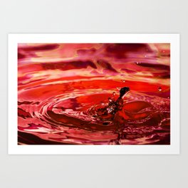 Rage - Emotions Water Drop Photography Art Print