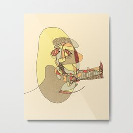 Cigar Man Metal Print