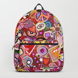 Valentine Painted Abstract Backpack