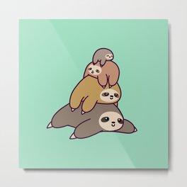 Sloth Stack Metal Print