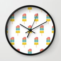 popsical sunset Wall Clock
