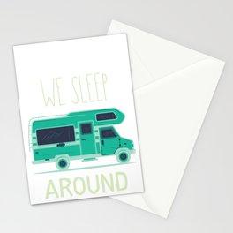 We Sleep Around Rv Camper Van  Stationery Cards