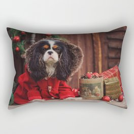 Norfolk Spaniel Christmas New Year decorations Christmas balls dogs Rectangular Pillow
