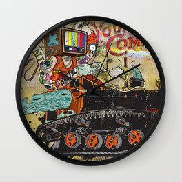 Never Again Tomorrow Express Wall Clock