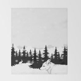 Arctic Animals - Arctic Tundra Throw Blanket