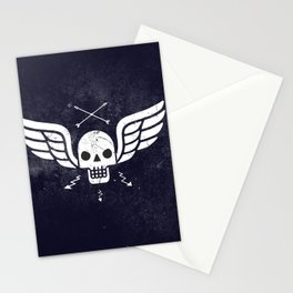 Death Rider Winged Skull with Arrows Stationery Cards