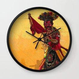Betawi mask dance Wall Clock