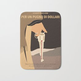 No721 My A Fistful of Dollars minimal movie poster Bath Mat